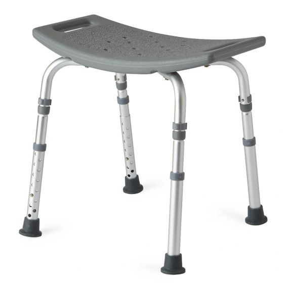 Aluminum Bath Bench without Back Knockdown 300 lb Weight Capacity MDS89740KDH by Medline