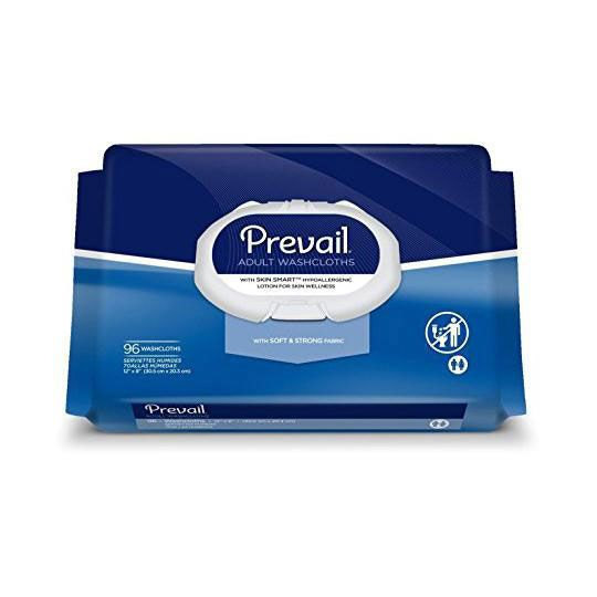 Prevail Personal Washcloth Wipes Aloe Lanolin 96Ct WW720Z by First Quality Products