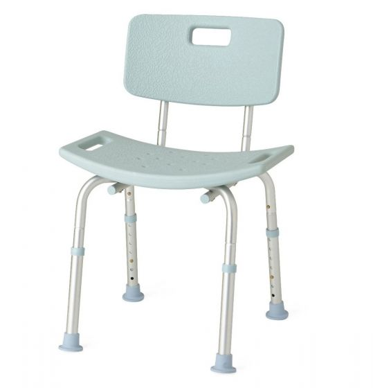 Knockdown Bath Bench with Back and Microban MDS89745KDMBH by Medline
