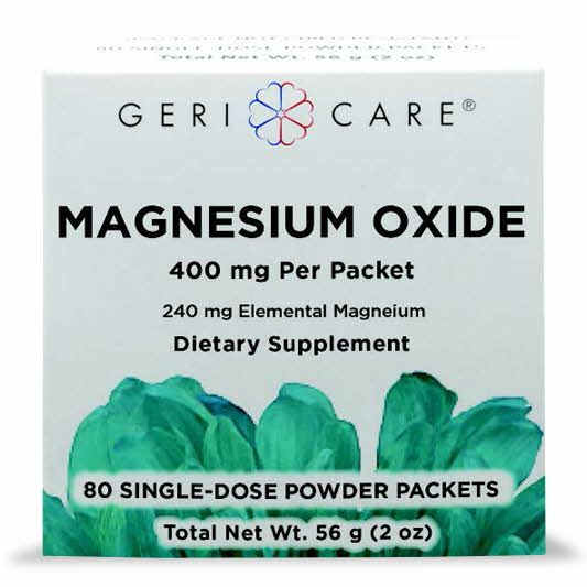 GeriCare Magnesium Oxide Powder Packets 400mg 80Ct OTC734084 by Medline