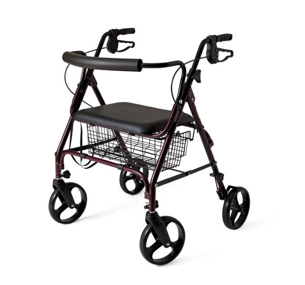 Medline Basic Aluminum Heavy-Duty Bariatric Rollator 1Ct MDS86800XW by Medline
