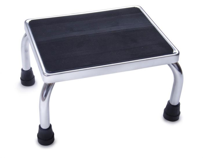 Chrome Footstool with Rubber Mat 350 lb Weight Capacity MDS80430I by Medline