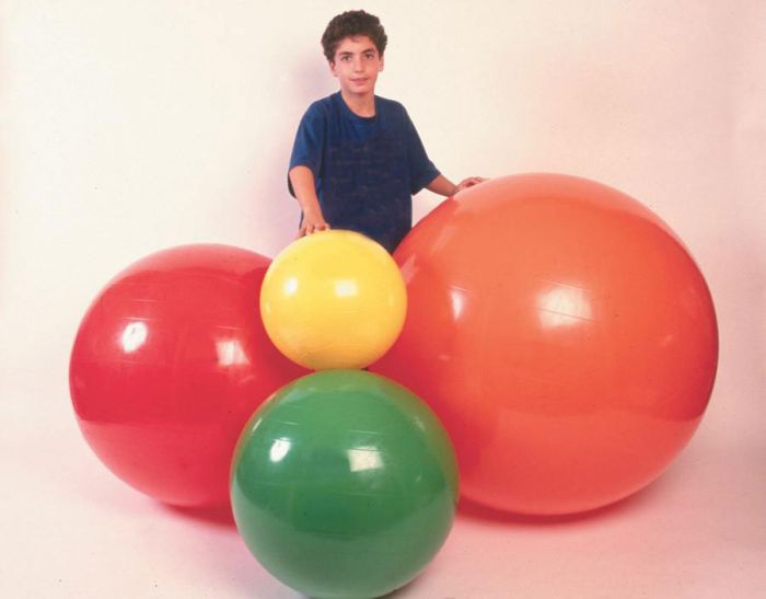 CanDo Red Inflatable Exercise Ball 30in 1Ct MDSP301804 by Fabrication Enterprises Inc