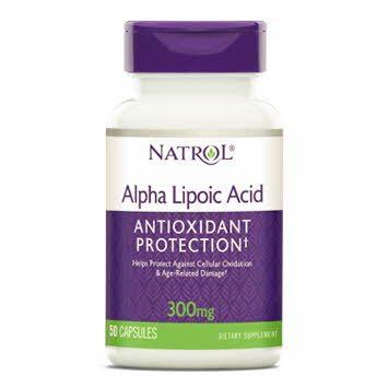 Alpha Lipoic Acid Supplement 300 mg 50 Count OTC000312 by Medline