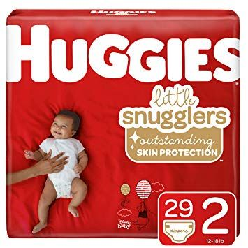 Huggies Little Snugglers Baby Diaper Size 2 12-18lb 116Ct KCP49697 by Huggies