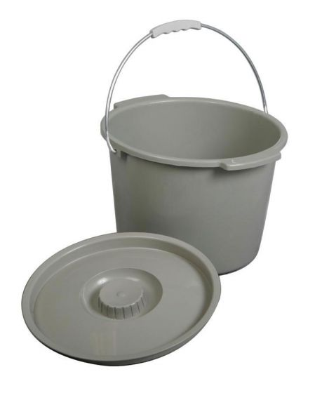 Medline Commode Bucket with Lid and Handle 1 Count MDS80306BH by Medline