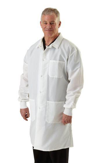 Men's ResiStat Lab Coat with Pockets, Size M MDT046805M by Medline