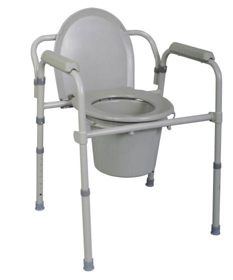 Replacement Medline Commode Seat with Lid 1Ct MDS89664SLH by Medline