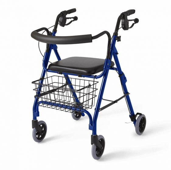 Deluxe Curved Back Rollator MDS86810B by
