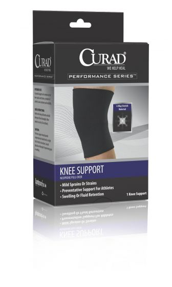 CURAD Neoprene Pull-Over Knee Support with Closed Patella