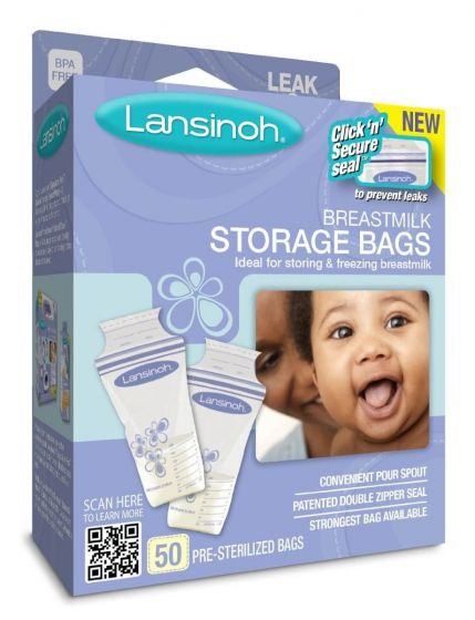Lansinoh Breastmilk Storage Bags, 50 Count  LNH20450H by Lansinoh Laboratory Inc