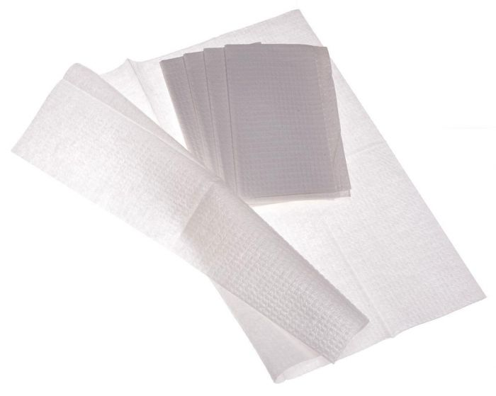 Medline 2ply Tissue/Poly Towel 13x18 500 Count NON24356W by Medline