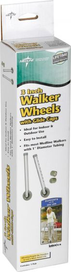 3 in.-dia Replacement Casters for Walker MDS86615W by Medline