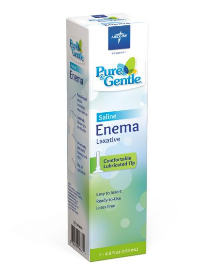 Pure & Gentle Disposable Saline Enema Laxative, 4.5oz PF37546 by Medline