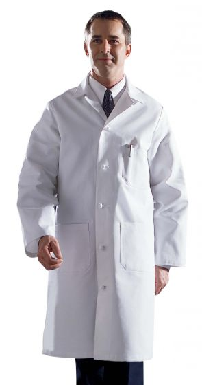 Men's Premium Full Length Cotton Lab Coat, Size 40 MDT17WHT40 by Medline