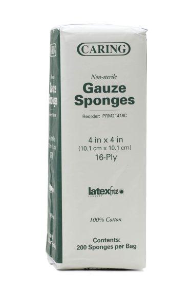 Nonsterile 100% Cotton Woven Gauze Sponges