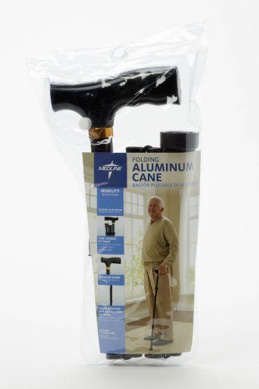 Medline Folding T-Handle Aluminum Cane MDS86430W by Medline
