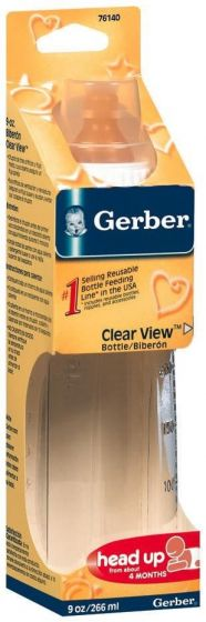 Gerber Clear View Baby Bottle 9oz 1Ct GER76140H by Medline
