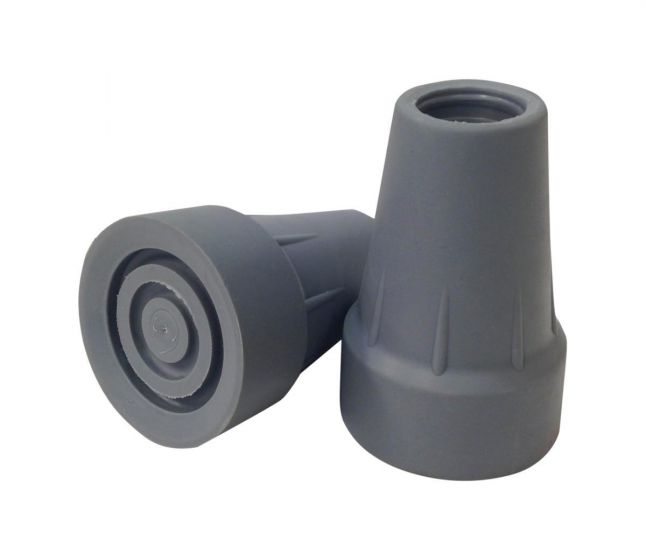 Extra Large Crutch Replacement Tips 7/8 in. Gray