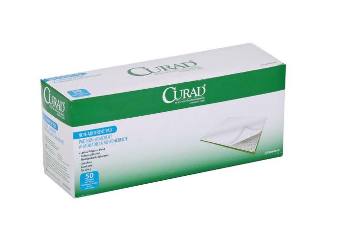"""CURAD Sterile Nonadherent Pad 3"""" x 8"""" 50 Count NON25720H by Medline"""