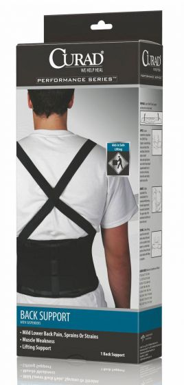 CURAD Performance Back Support with Suspenders L 4Ct ORT22200LD by Medline