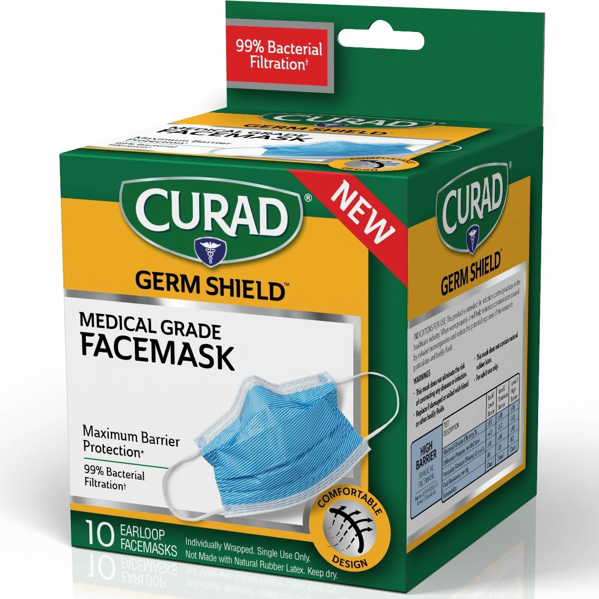 disposable ear loop face masks medical germ