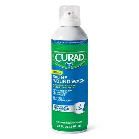 CURAD Saline Wound Wash for First Aid - Shop All PF47612 by Medline