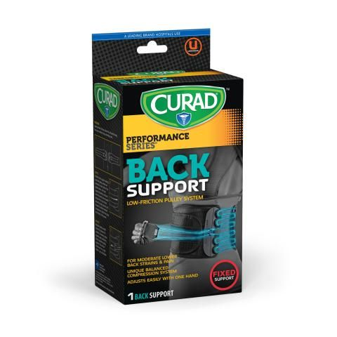 CURAD Performance Series Back Support for Ages 50+ 1Ct CURSR22800DH by Medline
