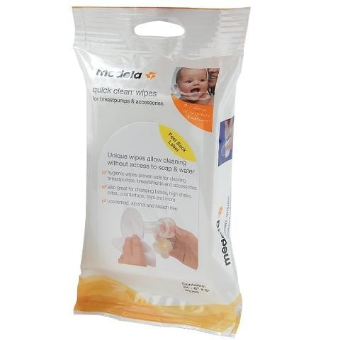Medela Quick Clean Breast Pump & Accessory Wipes MLA87055H by Medela