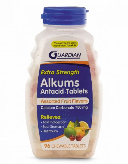 Flavored Extra Strength Alkum Antacid Tablet 750mg 96Ct OTCS0674C2 by Guardian