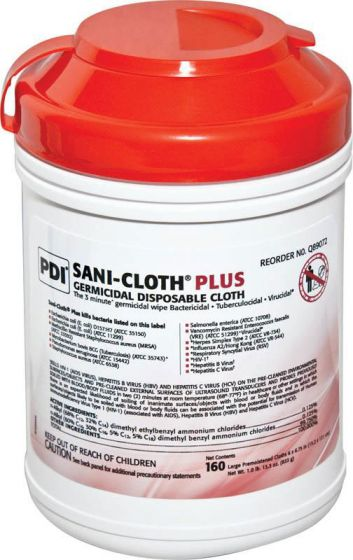 Sani-Cloth Plus Germicidal Disposable Wipes, 160 Count
