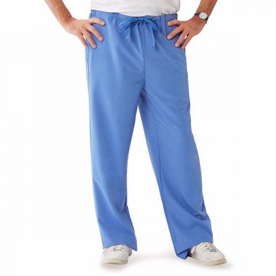 Newport ave Unisex Stretch Fabric Scrub Pants with Drawstring, Size L 5900CBLLT by Medline