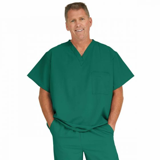 Fifth ave Unisex Stretch Fabric V-Neck Scrub Top with 1 Pocket, Size M 5910HTRM by Medline