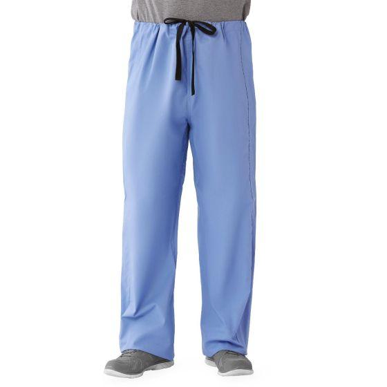 Unisex 100% Cotton Reversible Scrub Pants, Size M