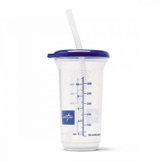 Medline Clear Noninsulated Carafe with Straw 16oz 1Ct DYND80552H by Medline