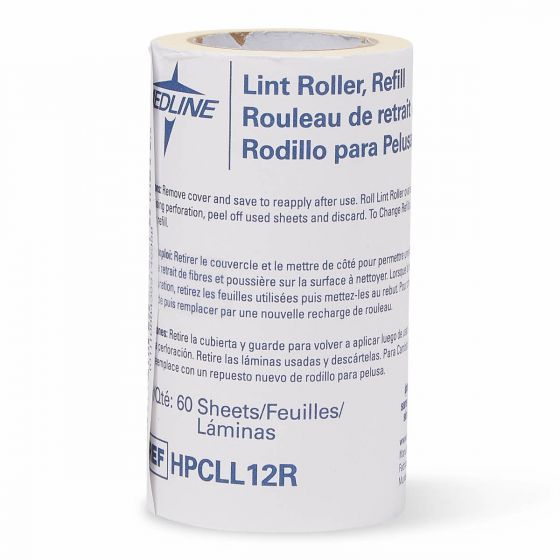 Refill Rolls for Lint Rollers, Case of 12 HPCLL12R by Medline
