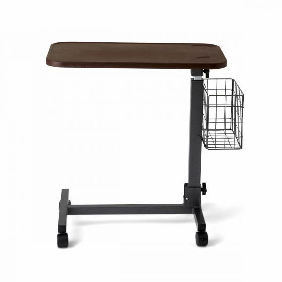 Fold-Flat Overbed Table with Basket MDS108015 by Medline