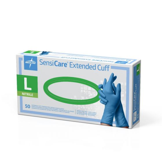 SensiCare Extended Cuff Nitrile Exam Gloves MDS1286H by SensiCare