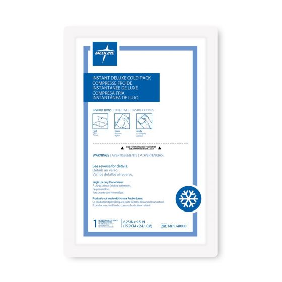 Medline Deluxe Instant Cold Pack 6.25x9.5 1Ct MDS148000H by