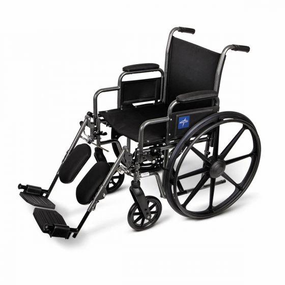 K1 Basic Wheelchair with Elevating Leg Rests MDS806450EE by Medline