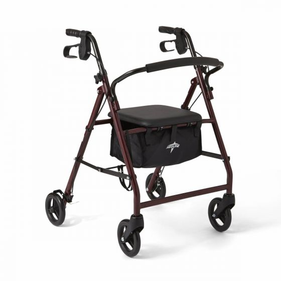 Medline Basic Rollator with 6in Wheels Burgundy 1Ct MDS86850E by Medline