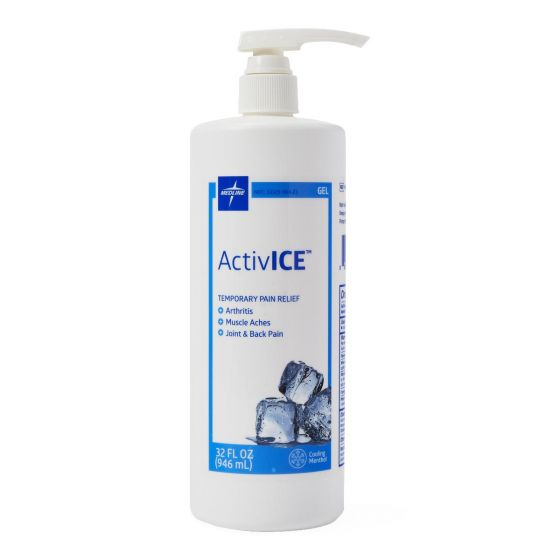 ActivICE Topical Pain Reliever Gel, 32oz MDSAICE32H by Medline