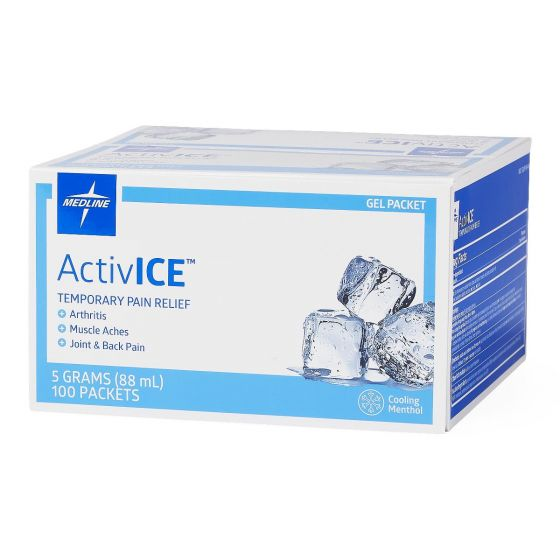 ActivICE Topical Pain Reliever 5 GM Packs, 100 CT MDSAICEPKH by Medline