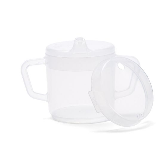 Two Handled Cup with Two Lids, Clear, 9oz MDSSPPSC49 by Medline