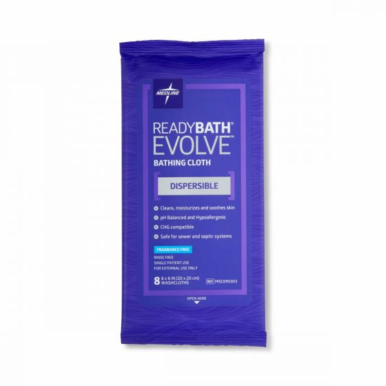 ReadyBath Evolve Bathing Cloths 8 Count 30 Packs MSC095303 by ReadyBath