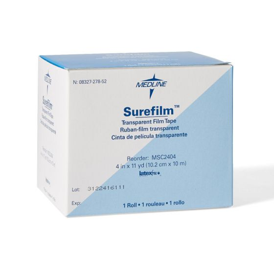 "Medline Surefilm Transparent Film Tape 4""x11yd 1Ct MSC2404H by Surefilm"