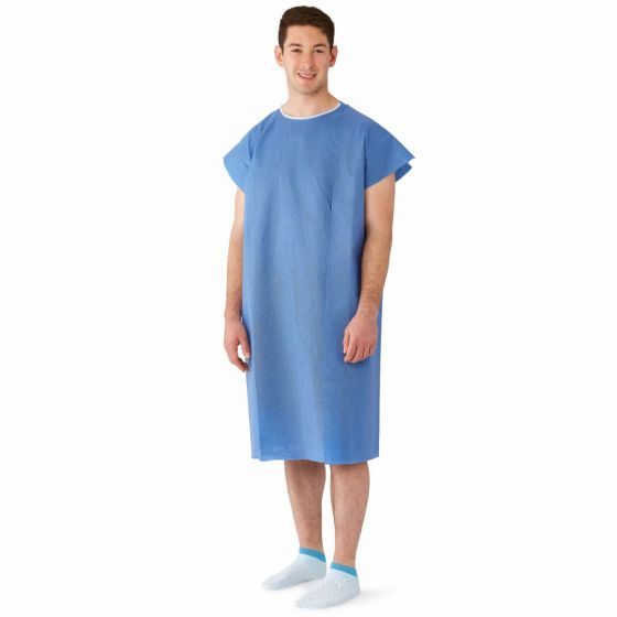 Three-Arm Hole Disposable Patient Gown, Size Regular / Large NON27346SL by Medline