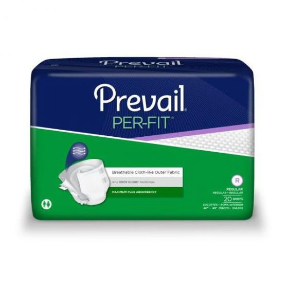 Prevail Per-Fit Max Plus Disposable Brief Reg 80Ct PF0161 by First Quality Products