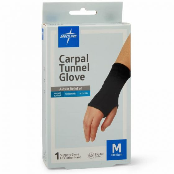 Medline Carpal Tunnel Glove with Flexible Splint