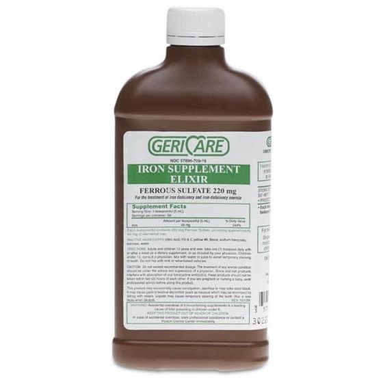GeriCare Ferrous Sulfate Iron Supplement Elixir 16oz 1Ct OTC6020650 by GeriCare